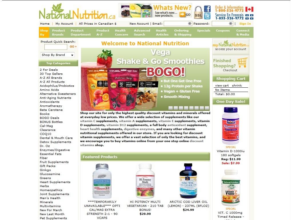 Nationalnutrition.ca Review