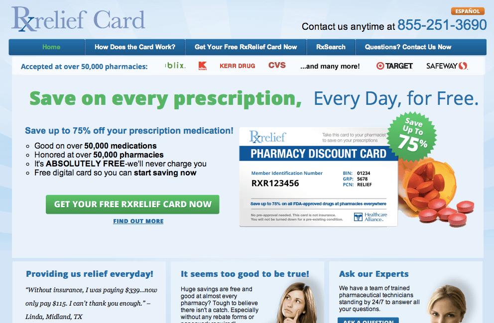 rxreliefcard reviews legit way to save money on prescription medication - Prescription Discount Card Reviews