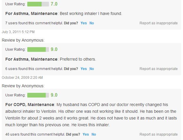 Proventil Hfa Reviews