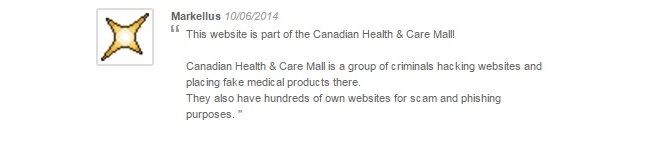 Canadianhealthcaremalll.com Reviews 2014 2015