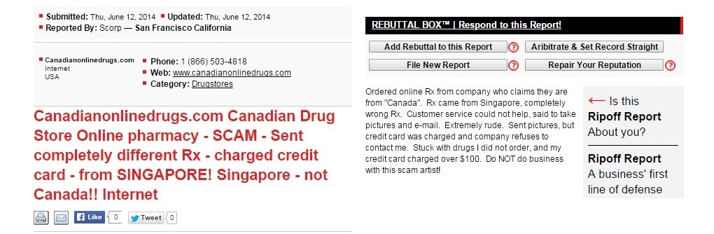 Canadianonlinedrugs.com Reviews 2014 2015
