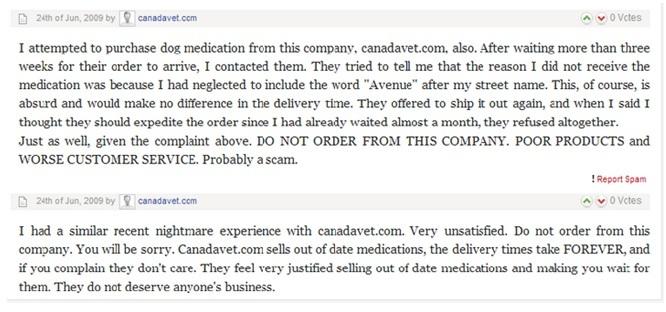 Canadavet.com Reviews