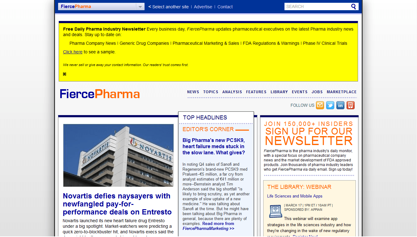 Fiercepharma Reviews – Free Newsletter About Latest News