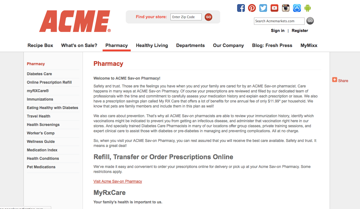 Acme Pharmacy Reviews