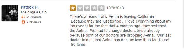 Aetna.com Reviews