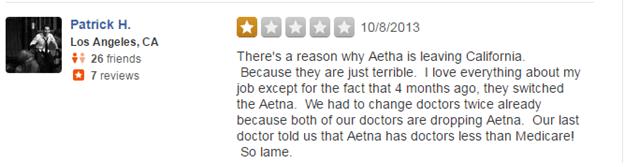 Aetna.com Reviews