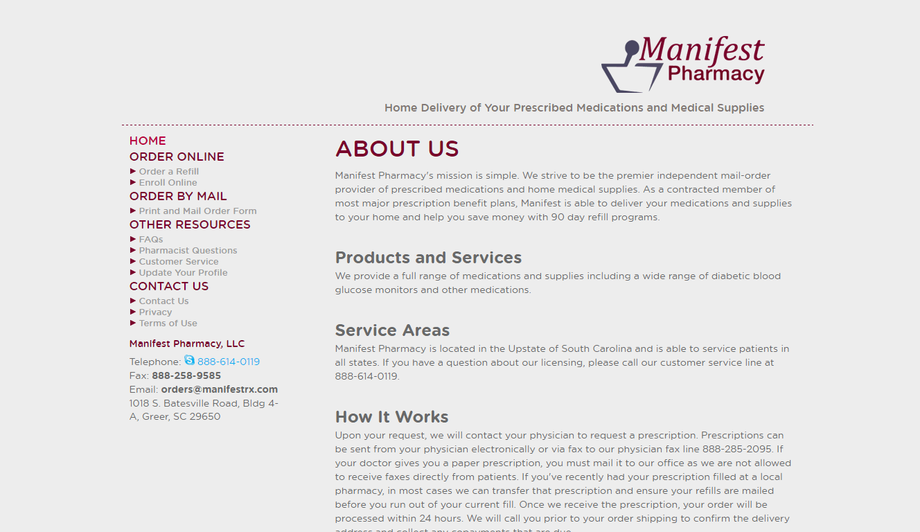 Manifest Pharmacy Reviews – A Suspicious Online Pharmacy
