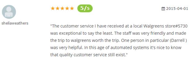 Walgreens.com Reviews 2016