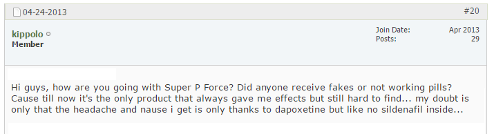 Super P-Force Consumer Review