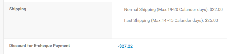 Super P-Force Shipping Cost