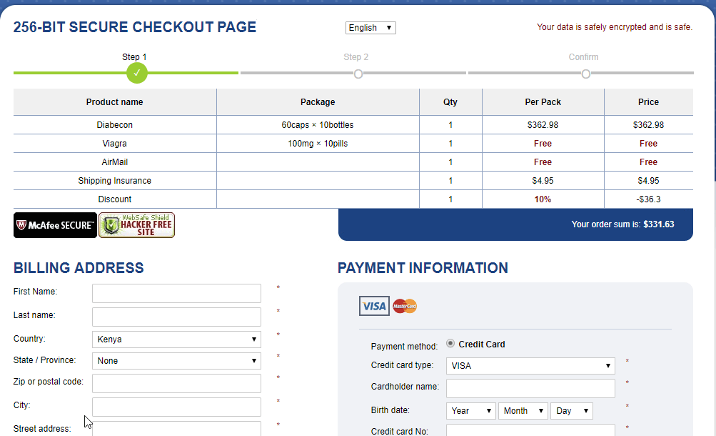 Good Pills Payment Page