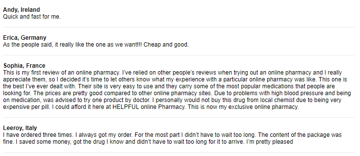 Cheap Pills Customer Testimonials
