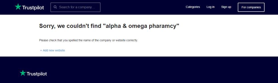 Alpha Omega Pharmacy Trustpilot