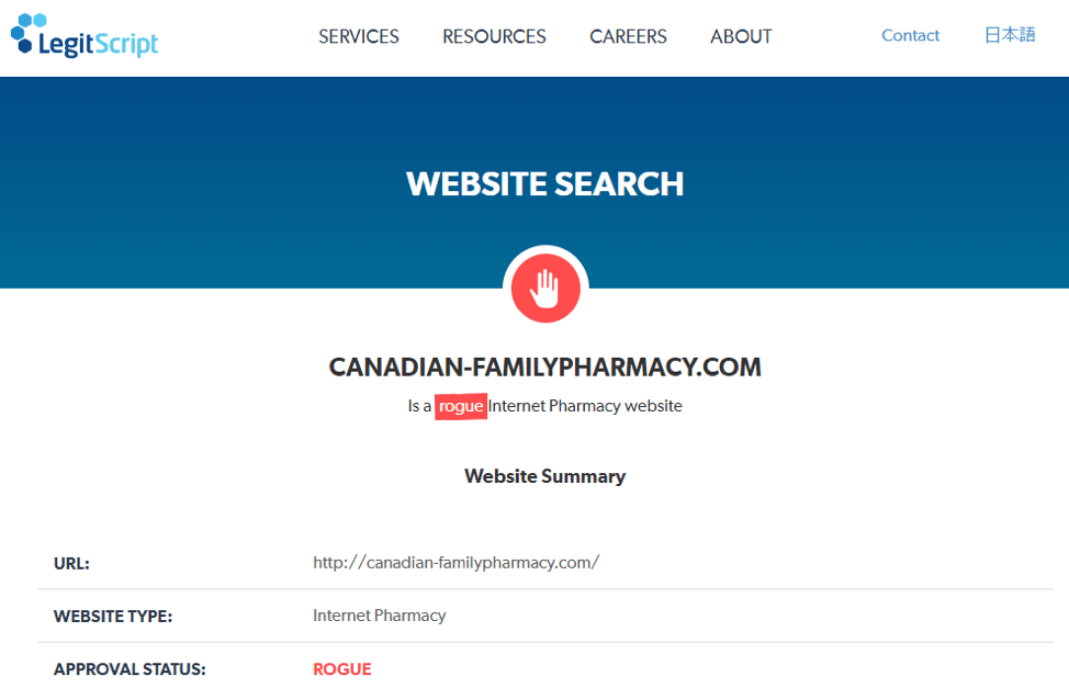 Canadian Family Pharmacy legitscript