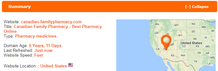 Canadian Family Pharmacy scamadviser
