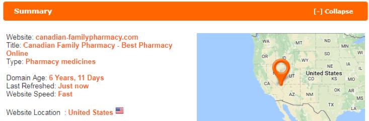 Canadian Family Pharmacy scamadviser