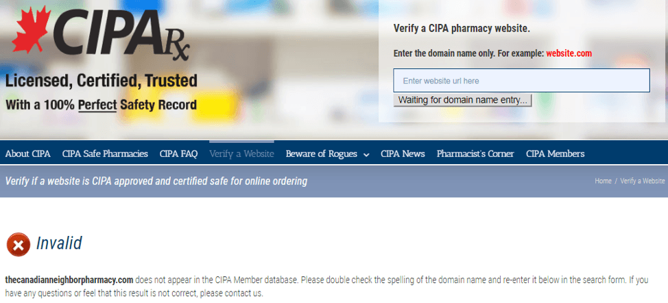 Canadian Neighbor Pharmacy CIPA