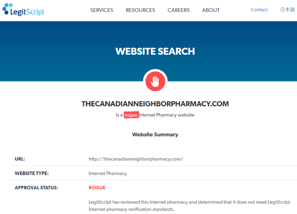 Canadian Neighbor Pharmacy legitscript