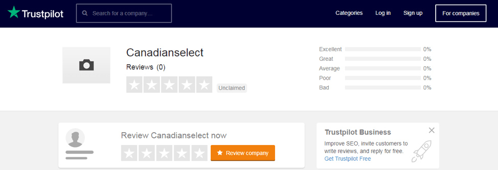 canadianselect.net Trustpilot