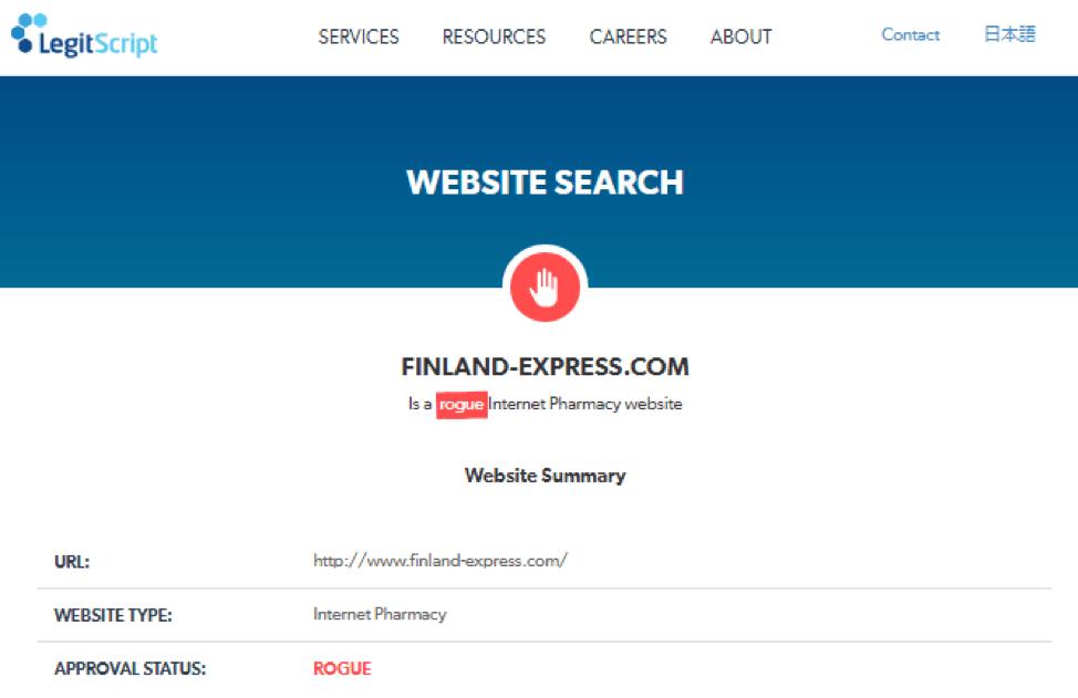 finland-express.com Legitscript