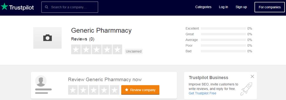 generic-pharmmacy.com trustpilot