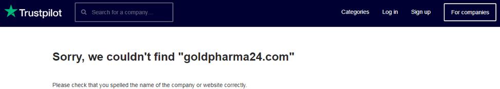 GoldPharma24 trustpilot