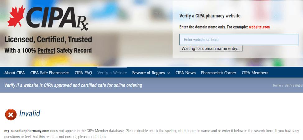 My Canadian Pharmacy cipa