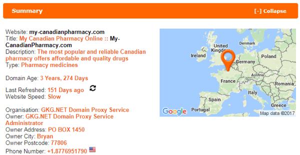 My Canadian Pharmacy scamadviser
