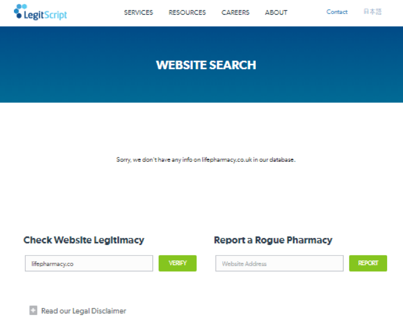 Life Pharmacy legitscript