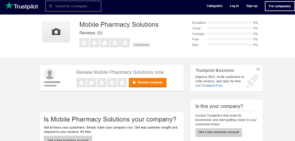 Mobile Pharmacy Trustpilot