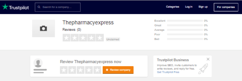 Pharmacy Express trustpilot