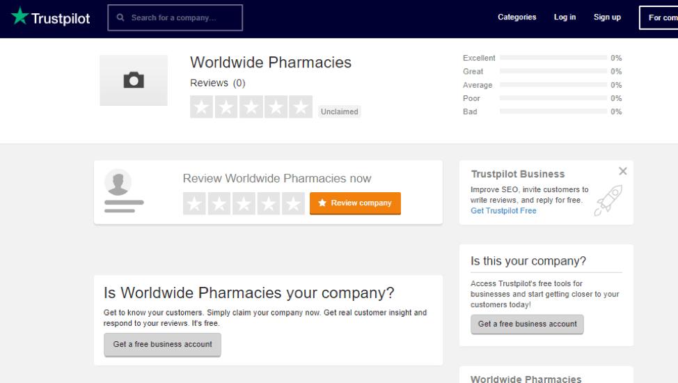Worldwide Pharmacy Trustpilot