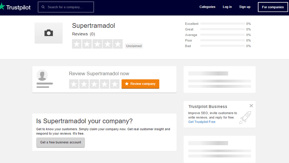 Supertramadol.com Trustpilot Reviews