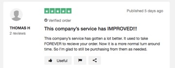 PharmacyMall on TrustPilot review